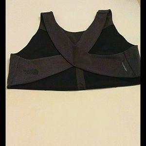 North Face XL Dark Grey Sports bra cross back